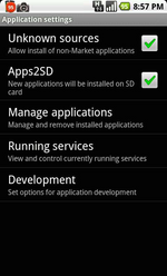 Memory Card App Storage Support (Apps2SD) Coming To Android 'Soon'