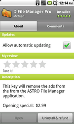 Follow-Up: Astro File Manager Goes Pro, Removes Ads