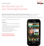 Verizon Releases Manual, Minor Update For Samsung Fascinate