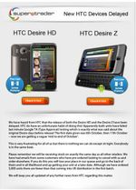 "HTC Desire HD & Desire Z Delayed Due To ""Google Testing"""