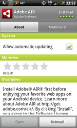 Adobe AIR Lands In Android Market, Doesn't Do Much Of Anything Yet