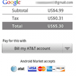 Carrier Billing Comes To Android Market On AT&T - Creates Audible Drop In The Paid App Bucket