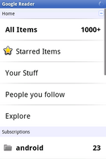 Official Google Reader Android App Now In The Market