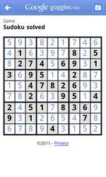 Google Goggles Updated To Version 1.3, Now Includes Sudoku Puzzle Solving, Instantaneous QR Code Scanning, And Print Ad Recognition