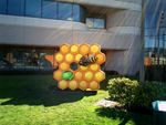Honeycomb Statue Arrives At Google's Headquarters