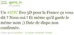 European EVO 3D Confirmed Via HTC France's Twitter