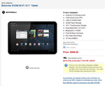 Pre-orders For Wi-Fi-only XOOM Live On B&H For $599