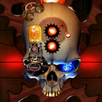 Add Some Clockwork Flare To Your Home Screen With Steampunk Skull Live Wallpaper