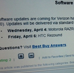 Leaked Best Buy Image Reveals Exact Dates Of ICS Updates For Verizon Motorola Droid RAZR/MAXX And HTC Rezound