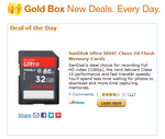 [One-Day Amazon Gold Box Deal] SanDisk Ultra Class 10 SD Cards - 16GB ($17.99), 32GB ($29.99), 64GB ($57.99)