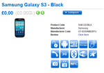 Black 64GB Galaxy S III Shows Up On Clove UK, Said To Be Available 'In Early October'