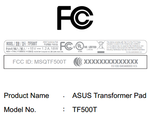 [Update: NVIDIA And ASUS Respond] Mysterious ASUS TF500T Tablet Spotted At The FCC, Definitely Another Tegra-Powered Addition To The Transformer Family