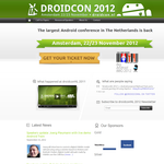 Droidcon 2012 Is Happening In Amsterdam On November 22-23, Get 25% Off With Our Promo Code