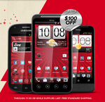 [Cyber Monday Deal Alert] Get $100 Off Of Virgin Mobile's HTC EVO V 4G ($150), Samsung Galaxy Reverb ($100), And HTC One V ($50)