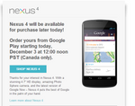 Nexus 4 Goes Back On Sale In Canada Today At 12PM PST, Let's Hope It Goes Smoother Than The US Re-Launch