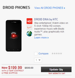 DROID DNA Ends The Disappearing Act At VerizonWireless.com While LG Lucid Goes Missing [Updated]