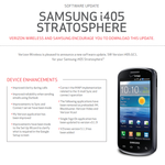 Verizon Readies Small Update For The Samsung Stratosphere, Brings Several Bug Fixes