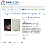 [Deal Alert] New 32GB Nexus 7 With Original Nexus Case For $189 With Coupon Code From Buydig