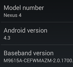 Download: Android 4.3 For Google Nexus 4 Leaks (JWR66N) - Here's The System Dump [Updated]