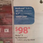 [Oops] Walmart Is Selling The Moto X With 'Android 2.3'