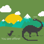 Qwertee Selling Chrome T-Rex/Google Now Shirt For One Day Only, Desktop And Mobile Wallpapers Available Too