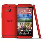 HTC One M8 Makes Multiple Appearances Sporting A Deep Coat Of Red
