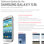 Verizon's Galaxy S III Support Documents Updated, KitKat Coming Very Soon