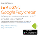 AT&T Giving $50 in Google Play Credit With New Lines Of Service Until June 17th