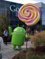 Google Unveils The Android Lollipop Statue, And It's Surprisingly Literal