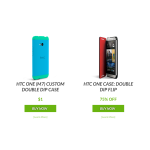 [Deal Alert] Get HTC One M7 Custom Double Dip Case For $1, M8 Double Dip And Flip Cases For 75% Off, And 50% Off All Others