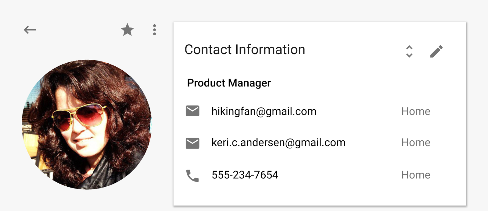Contacts preview 3.5