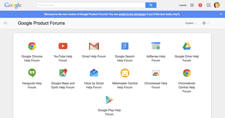 Google Product Forums Finally Get A Material UI Refresh