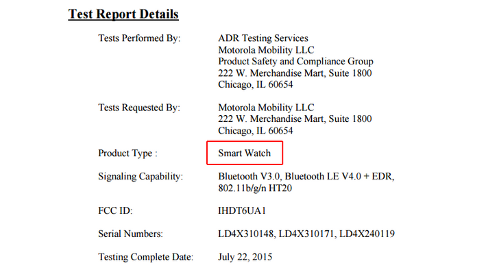 A Motorola Smart Watch Just Passed Through The FCC, Probably The New Moto 360