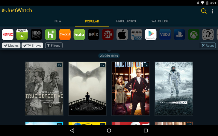 The New JustWatch Android App Lets You See Which TV Shows And Movies Are Streaming Where