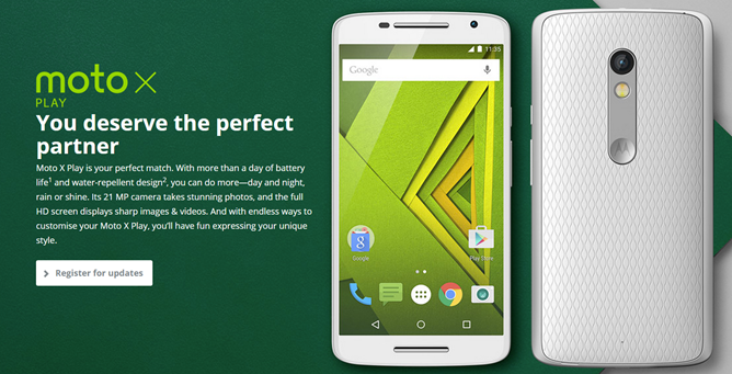"""The Moto X Play Is Motorola's Cheaper, Longer-Lasting Flagship: 5.5"""" 1080p Screen, 21MP Camera, 3630mAh Battery... But No US Release In Sight"""