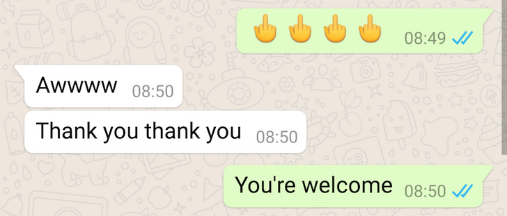 [Update: Now Visible For All, 2 New LGBT Emojis] WhatsApp Has A Hidden Middle Finger Emoji, Here's How To Give Everyone The Bird