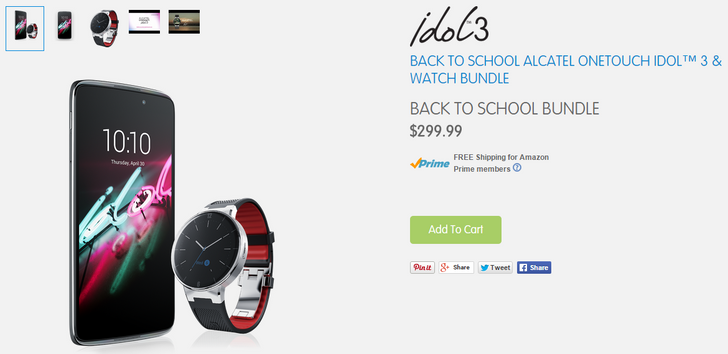 [Deal Alert] Get An Alcatel Onetouch Idol 3 And Onetouch Watch Bundle For $299 ($100 Off)
