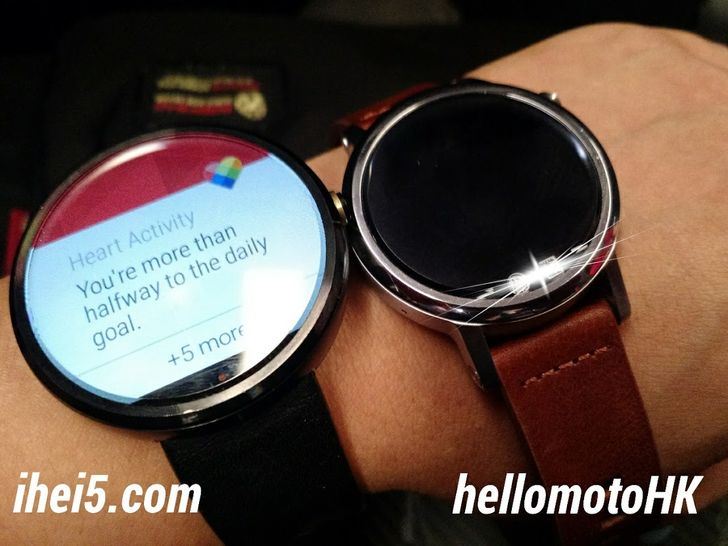 HelloMoto HK Shares Two Clear Photos Of The Moto 360L And The Smaller 360S
