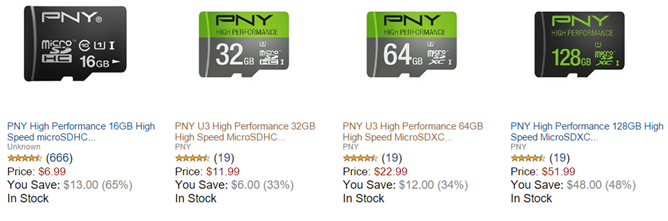[Deal Alert] Amazon Gold Box Has PNY MicroSD Cards On Sale, Including A 128GB Card For Just $52