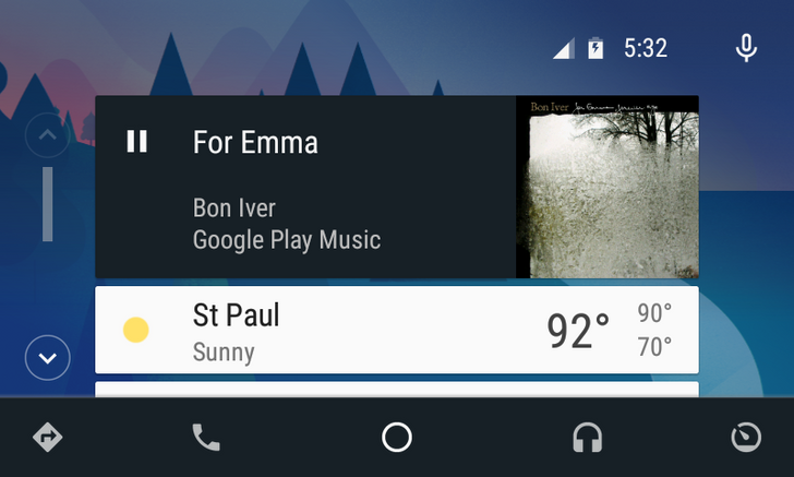 Android Auto Updated To v1.2 With A Tweaked Home Screen And Expanded Music/Navigation Notifications