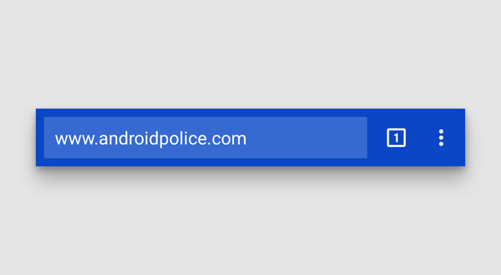Latest Chrome Dev For Android Has Partial Support For 'Theme-Color' Attribute Without Merging Tabs And Apps