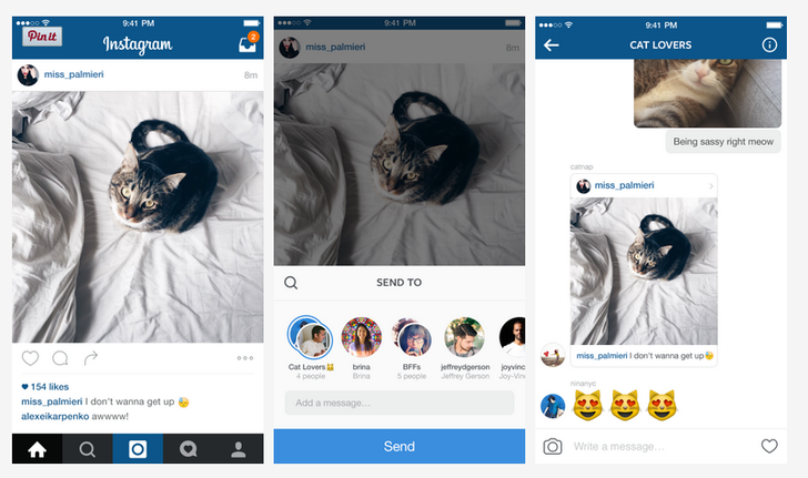 Instagram 7.5 Brings Improvements To Direct Messages, Including The Ability To Share Photos From Your Stream