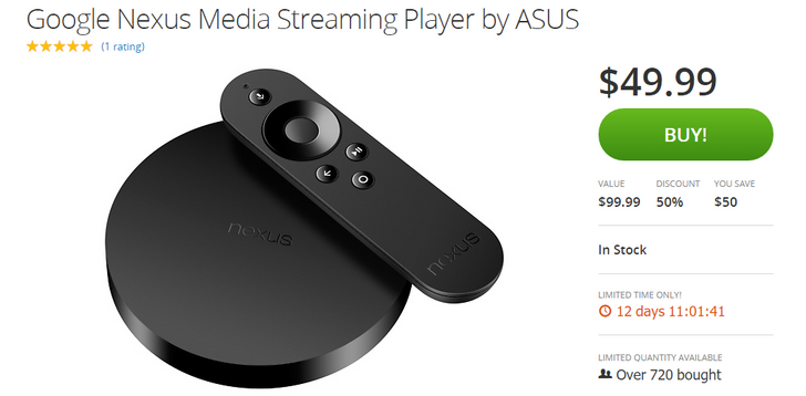 [Deal Alert] Get A Nexus Player For Under $50 On Groupon (Down From $99.99)