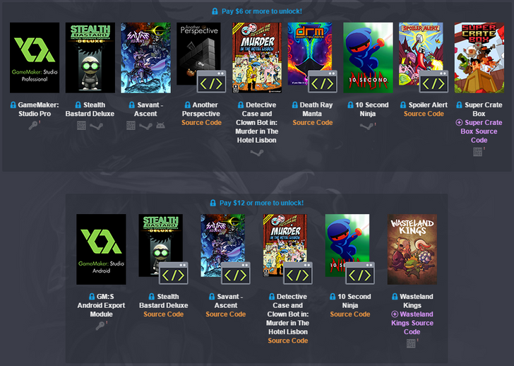 Humble Weekly Bundle Is An Aspiring Developer's Dream Including Games, Source Code, And A GameMaker License With Android Export ($450 Value)