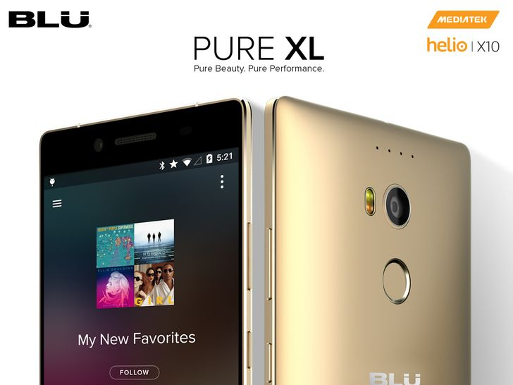 """Blu Announces The New Pure XL: 6"""" QHD Display, 3GB RAM, 64GB Storage, NFC, 2GHz Octa-Core Processor, Fingerprint Reader, And More For $350"""