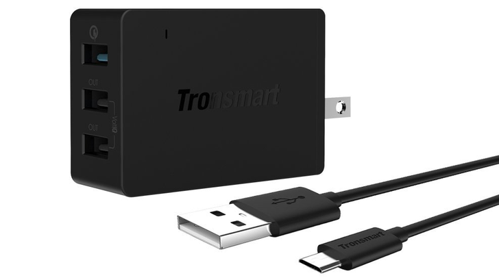 [Deal Alert] Tronsmart 42W 3-Port USB Charger With Quick Charge 2.0 $12 On Amazon After $8 Off Coupon