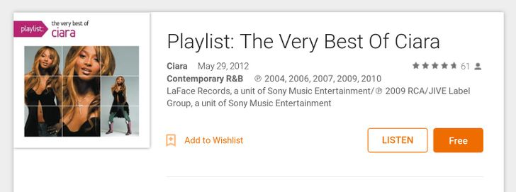 [Deal Alert] Get The Very Best Of R&B Singer Ciara For Free On Google Play Music