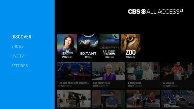 CBS Releases An Android TV App For 'All Access' Subscribers