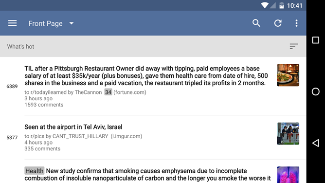 BaconReader For Reddit 5.0 Includes Material Design Update, User Interface Tweaks, And Bugfixes