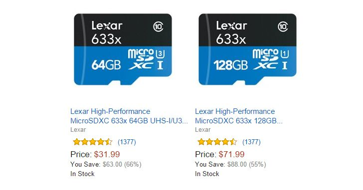 [Deal Alert] Lexar MicroSD Cards On Sale Via Amazon's Gold Box Deal Today